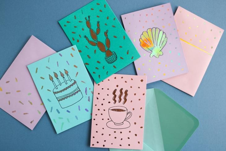 DIY // Des cartes à décorer soi-même // Make your own cards // A Cardboard Dream