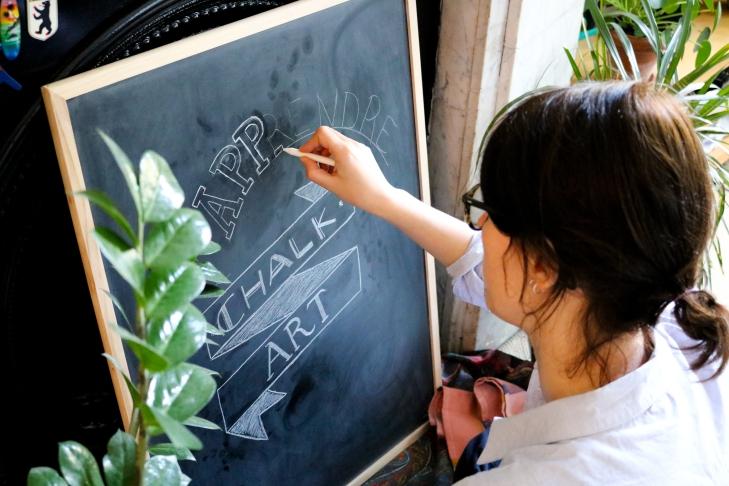 Se lancer dans le chalkboard art / Start chalkboard art / A Cardboard Dream blog