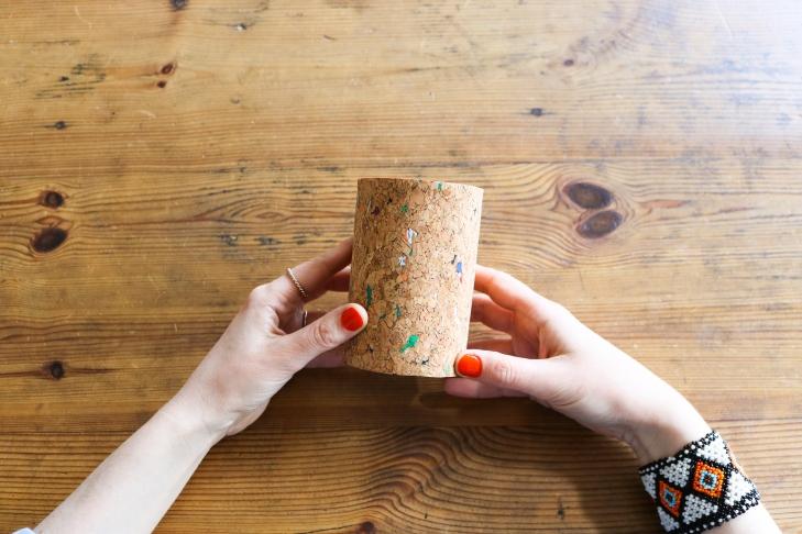 DIY // Comment réaliser des cache-pots en liège // How to make cork pots
